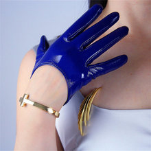 Womans Gloves Patent Leather Short Ultrashort Simulation Genuine Female Dance PU 13cm P67
