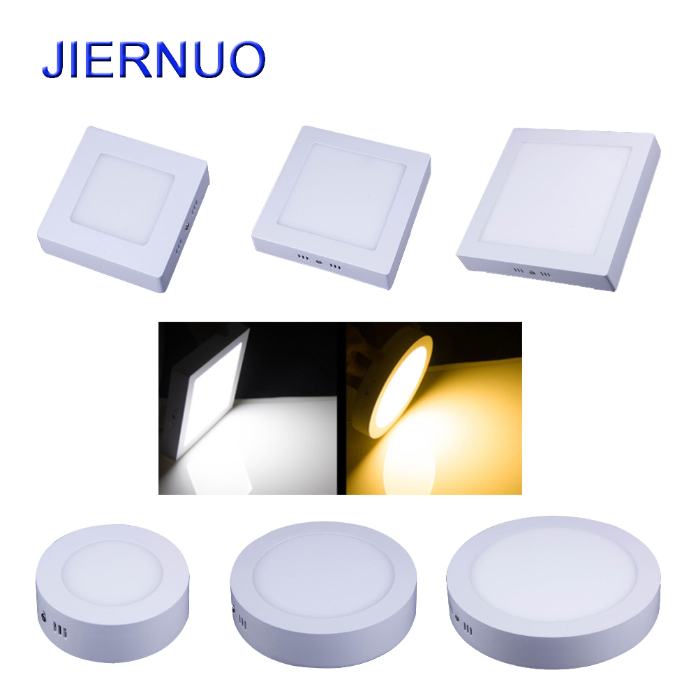 Panel LED Light 10W/15W/25W/30W Round/Square LED Panel Light Surface Mounted Dimmable Down light LED Ceiling Light AC85-265V AJ 2d led panel light led recessed ceiling panel down light lamp warm white cool white ac85 265v 10w 15w 20w round type