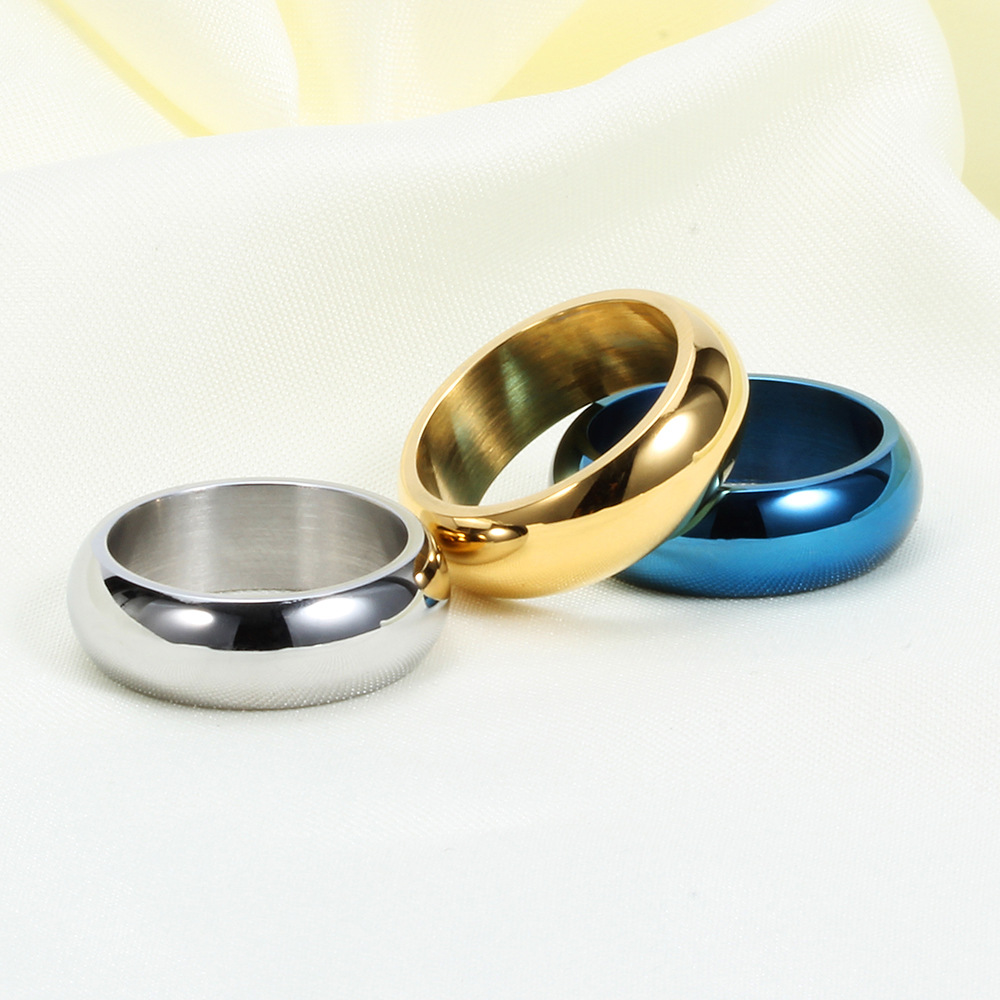 OLOEY Fashionable Simple Vacuum Plating Men 39 s Rings Three Color Knuckle Ring Unique Male Finger Jewelry Good Gifts For Boyfriend in Rings from Jewelry amp Accessories
