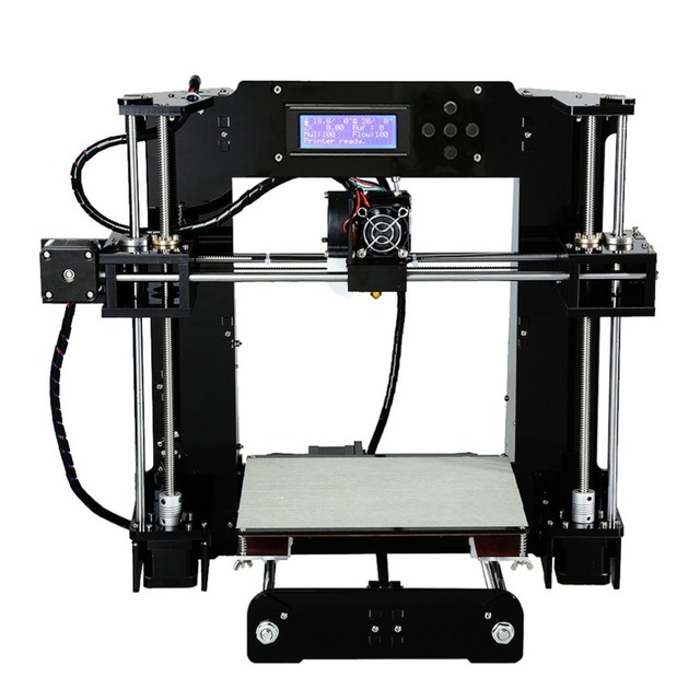 High Precision Automatic Leveling DIY 3D Printer Acrylic Lead Screw Frame Large Print Size 220*220*250mm EU Plug 5