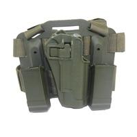 Tactical Hunting Accessories Airsoft Gun Holster Leg 1911 Pistol Drop Leg Holster for Gun Colt 1911 Green