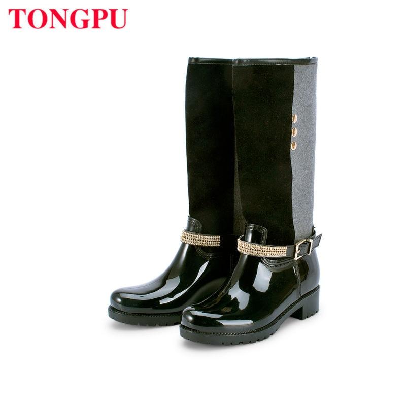 TONGPU RAIN BOOT WATER SHOES HIGH UPPER SPRING AUTUMN SEASON SUITABLE SELECTION FASHION STYLE