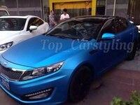 Color Aluminum Blue Matte Chrome Car Wrap Vinyl Foile Film For Car Wrapping Matte Crome Blue