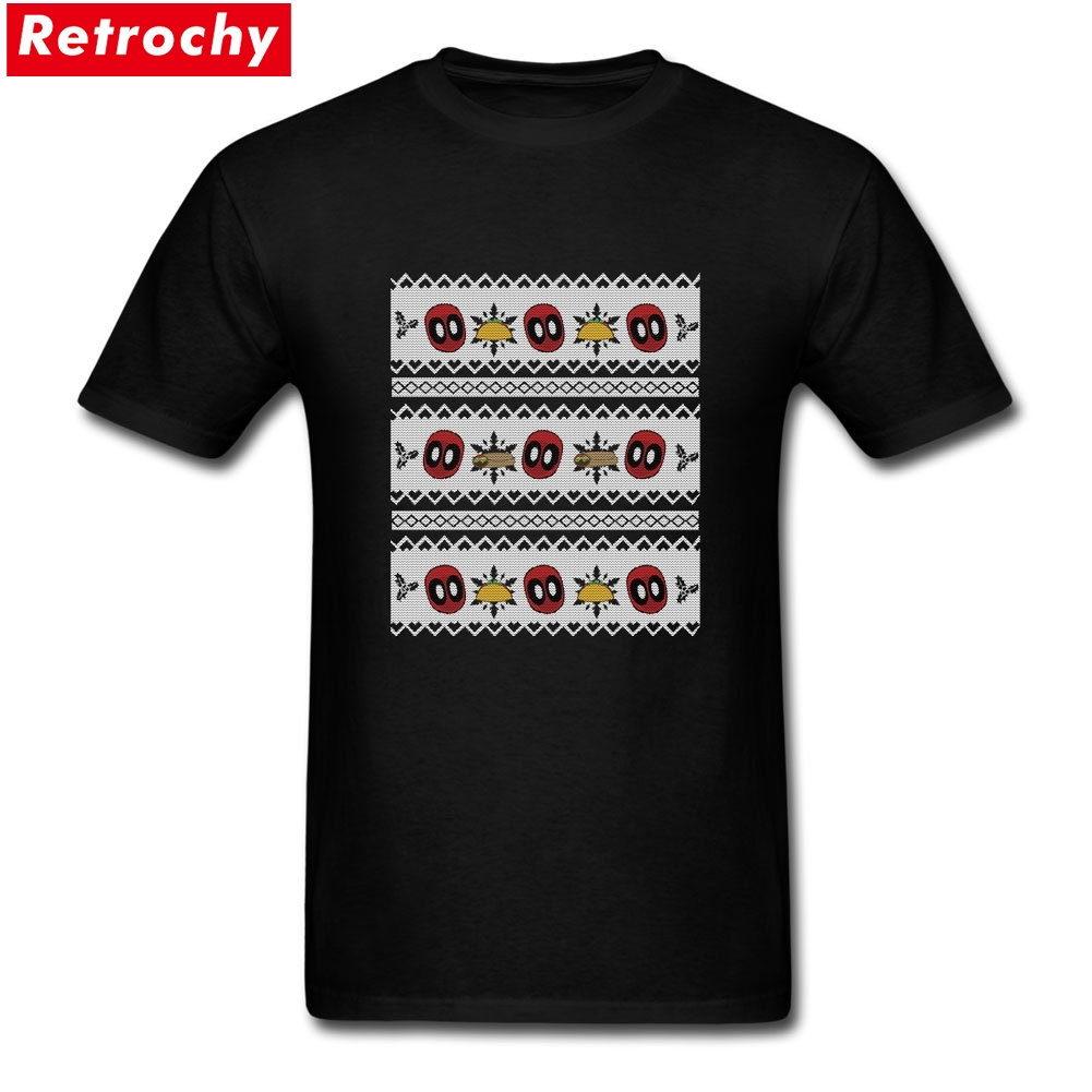 2017 New Summer Deadpool Taco Christmas Sweater TV Shirts Men Plus Size Short Sleeve Cotton Design Your Own T Shirt for Teenager