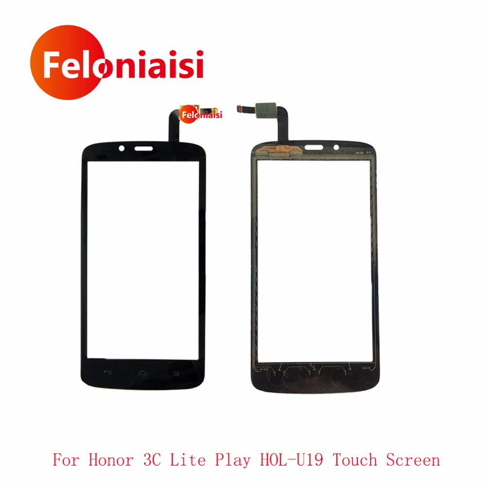 High Quality 5.0 For Huawei Honor 3C Lite Play HOL-U19 Touch Screen Digitizer Sensor Outer Front Glass Lens Panel+Tracking Code