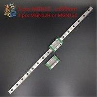 Kossel Pro Miniature MGN12 650mm Linear Slide 3 Pcs MGN12 600mm Rail And 3 Pcs Of