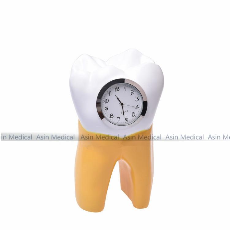 Dentaire dent horloge résine artisanat dentiste cadeau résine artisanat dentaire clinique décoration ameublement articles créatif œuvre