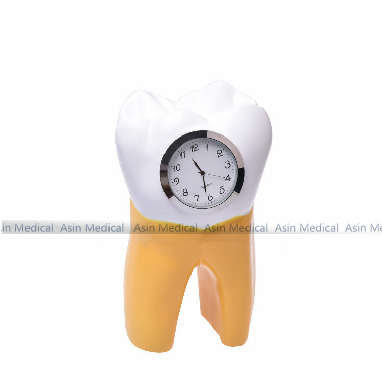Dental Tooth Clock resin handicraft Dentist Gift Resin Crafts Dental clinic decoration furnishing articles Creative Artwork цена
