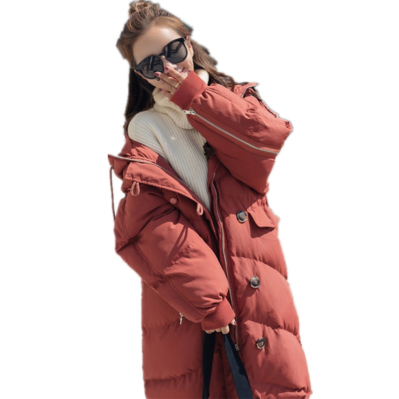 Women Thick Warm Long BF Oversized Casual Winter Jacket Women Cotton Padded Parka Jaqueta Feminina Fashion Coat Outerwear TT3459 hooded winter jacket women thick cotton padded parka down warm casaco feminino jaqueta feminina abrigos mujer invierno sy235