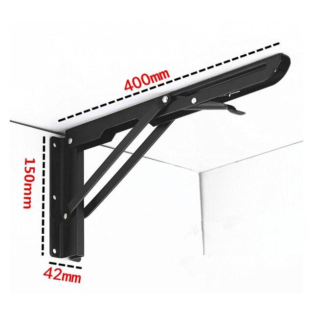 DSHA 2 Trang Trí treo tường kệ tam giác gấp gọn có thể gấp lại được kim loại mang bàn hỗ trợ chân đế nhà máy 400mm x 150mm