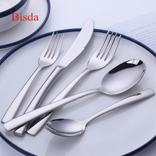 Christmas Dinnerware Set 20Pcs/set Stainless Steel Cutlery Sets High Quality Silver Cutlery Tableware Set  With Gife Box