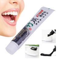 100g Teeth Whitening Toothpaste Oral Hygiene Bamboo Charcoal Toothpaste Universal Home Black Toothpaste Teeth Care Accessory