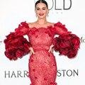 Hot Sale 2017 Sexy Lace Sereia Celebridade Vestidos Longos Até O Chão Vestidos No Tapete Vermelho Com Flores Custom Made vestido beyonce