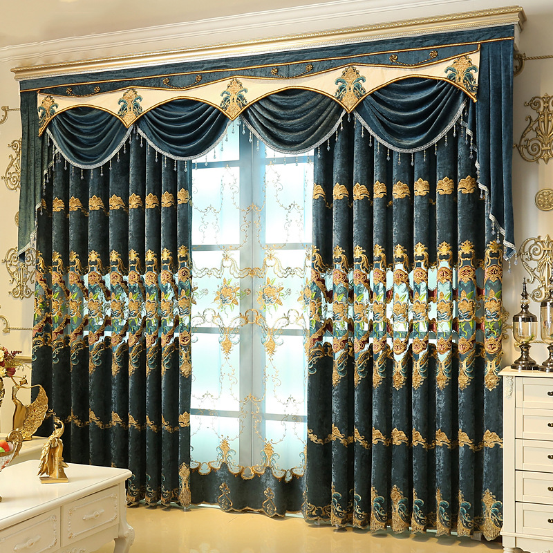 1 Pc Curtain And 1 Pc Tulle Peony Luxury Window Curtains: 2017 New Curtains For Dining Living Bedroom Room 1pc
