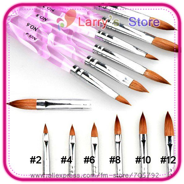 Acrylic Nails Brush Size 6 Pieces Set Diffe No 2 4 8 10 12 Professional