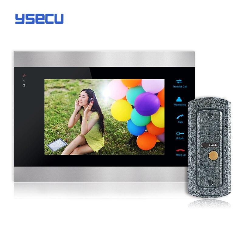 Buy Monitor Get Doorbell free YSECU 7 Inch Color LCD Video Door Phone Intercom System Door