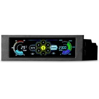 5.25 Drive Bay PC Computer CPU Cooling LCD Front Panel Temperature Controller Fan Speed Control for Desktop