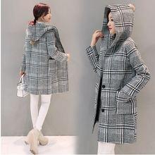 С капюшоном ржанка сетки ткань пальто новое пополнение детских зимних осенне-зимние мужские туфли без застежки для девушек-студенток длинное шерстяное пальто развивать нравственность