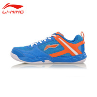 Li Ning Men's Wear Resisting Badminton Training Shoes Li Ning Shoes Anti Slippery Damping Lace Up Outdoor Sneakers AYTM017