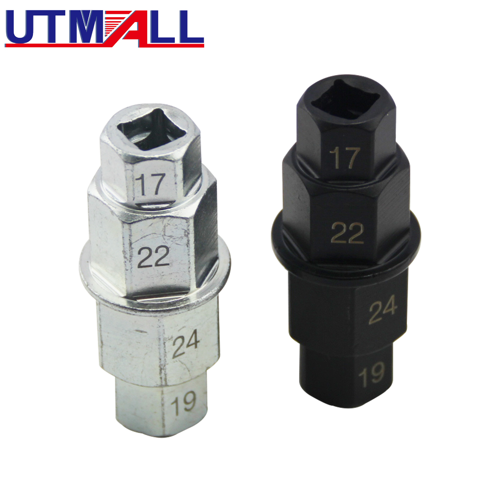 22-24 mm Motorcycle Spindle Drive Hexagonal Socket for Wheel Axle 3//8 17-19