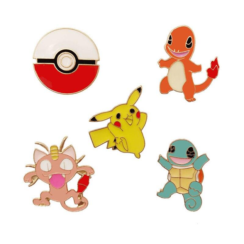 Deskundig 5 Pcs Pokemon Pikachu Broche Set Lichtmetalen Badge Gothic Fans Collection Drop Schip