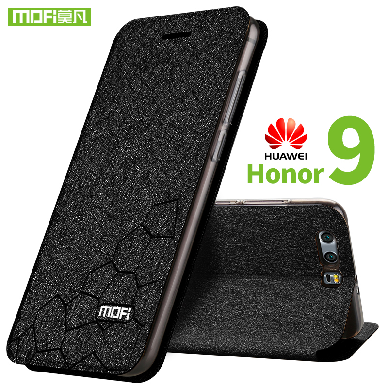 For huawei honor 9 case silicon back cover Mofi honor 9 case flip leather stand holder for huawei honor 9 case TPU fundas