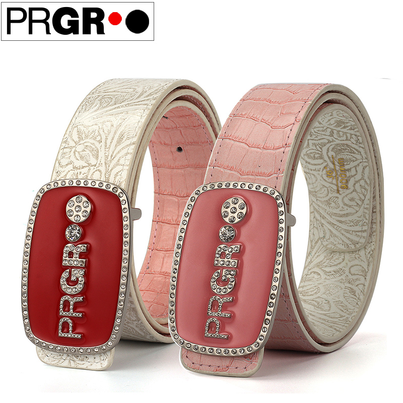 Double faced print prgr golf strap golf Women genuine leather skirt waistband of trousers belt sports supplies golf belt