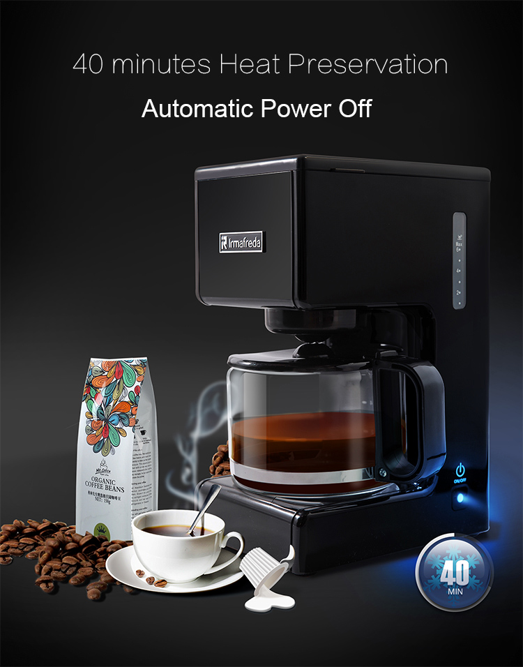 750ML Electric American drip coffee machine Household Coffee Makers Automatic Coffee Making Machine home intelligent fully automatic american style coffee machine drip type small is grinding ice cream teapot one machine