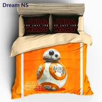 Dream NS Vivid Star Wars Duvet Cover Sets 3pcs US AU Size Custom Bedlinens Cute Robot