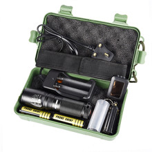 C2 Bicycle Light X800 Zoomable XML T6 LED Tactical Flashlight+18650 Battery+Charger+Case Set Kit Waterproof