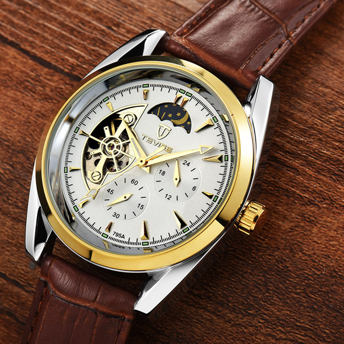 Automatic Mechanical Watches men Top Brand Luxury Montre Homme quartz wristwatch big dial leather strap sport watch male 2018 mce top brand mens watches automatic men watch luxury stainless steel wristwatches male clock montre with box 335