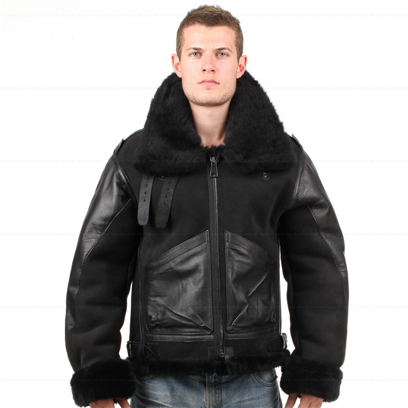 Online Buy Wholesale b3 sheepskin jacket from China b3 sheepskin
