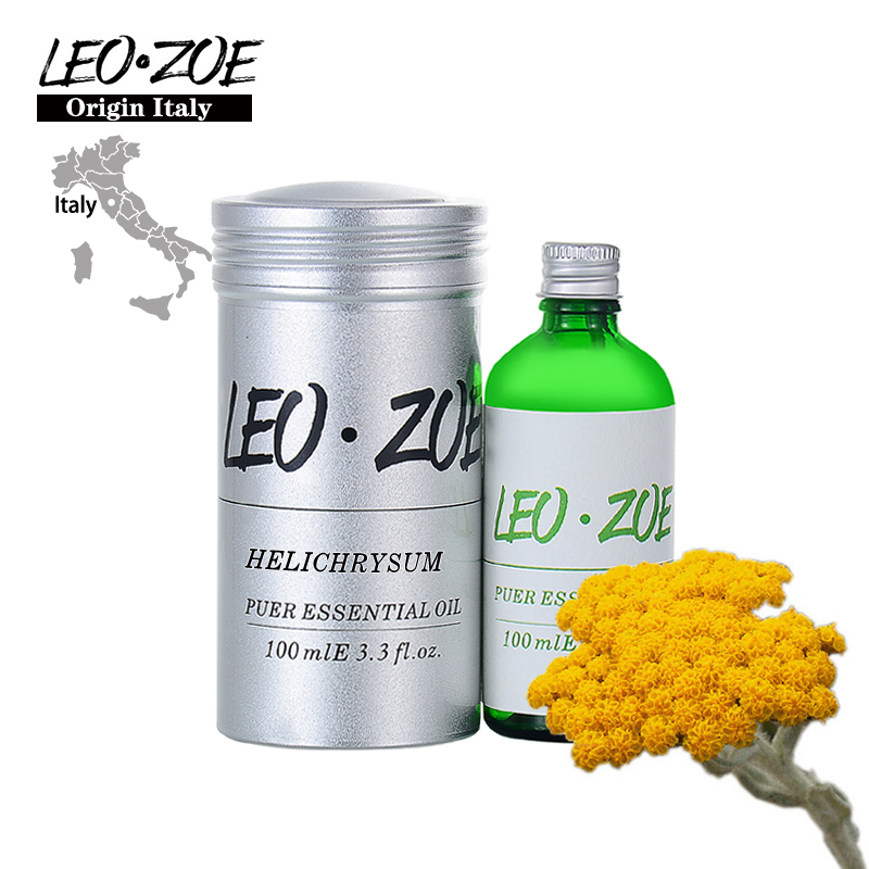 LEOZOE Helichrysum Essential Oil Certificate Of Origin Italy High Quality Helichrysum Oil 100ML Aceite Esencial Etherische OliLEOZOE Helichrysum Essential Oil Certificate Of Origin Italy High Quality Helichrysum Oil 100ML Aceite Esencial Etherische Oli