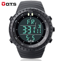 Fashion Men's Brand OTS 7005G Shock Outdoor Waterproof Swimming Sport Arc-shaped Glass LED Light Digital Watch Relogio Masculino