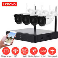 LENOVO 4CH Array HD WiFi Wireless Security Camera System DVR Kit 960P CCTV WIFI Outdoor Full HD NVR Surveillance Kit cctv camera