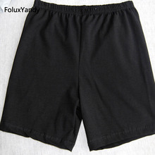 Stretched Safety Shorts Pants Plus Size 8 XL Women Slim Cotton Black Gray White RUHDFS33