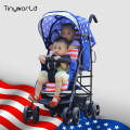 Tinyworld Twin Stroller Double Pushchair baby pram Buggy Tandem Stroller With EN1888 Certification