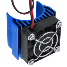 RC Brushless Electric 540 550 Motor Heat Sink Cover + Cooling Fan Heatsink 1/10 For 3650 Size Enngine