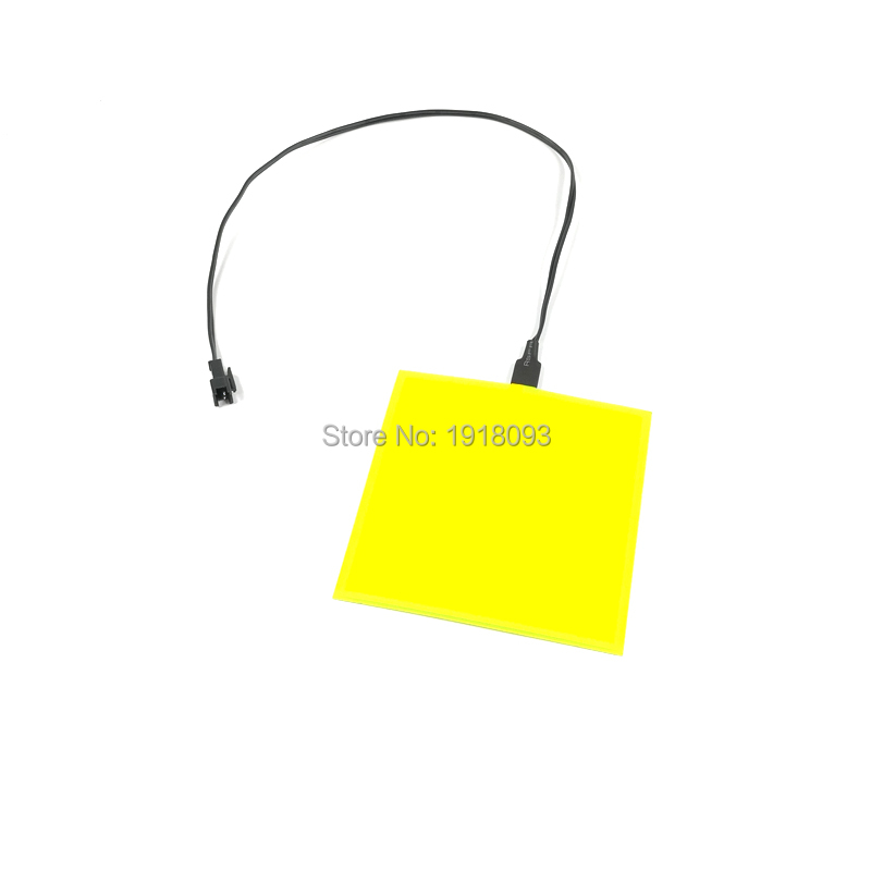 Yellow EL Panel Not Include Inverter Holiday Party Lighting Favors Neon Glowing Light EL Sheet