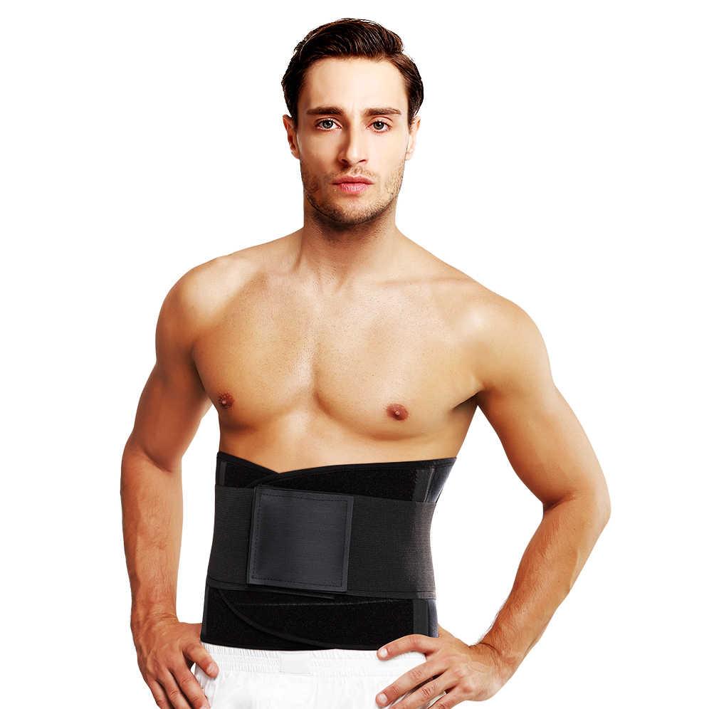 4d2392c589 Weight Loss faja lumbar fitness gym belt Waist Trainer Modeling Strap  weightlifting tactical belt men Slimming