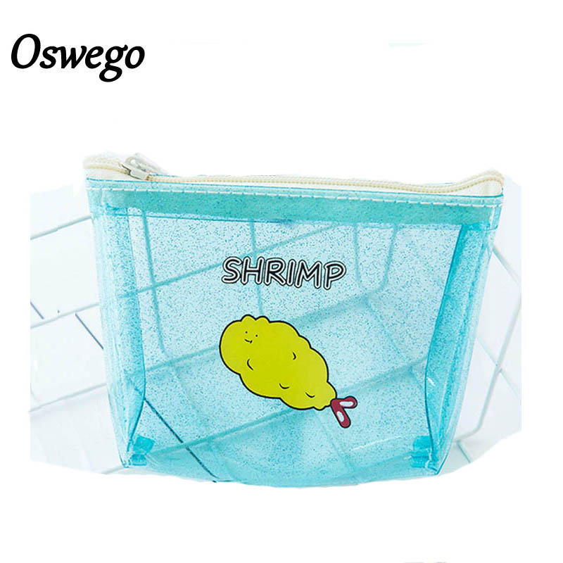 Oswego Women Coin Purse PVC Zipper Transparent Coin Wallet Protable Cute Money Change Phone Organizer Purse For Teenagers Girls pacgoth creative pvc waterproof cute carton candy color purse dessert donuts summer sweet hearts zipper coin purses money bag