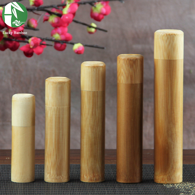 Mini Bamboo Tea Storage Box Airtight With Lid Vintage Spices Jar Wood  Handmade Incense Stick Holder