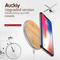 Auckly 7.5W Fast Wireless Charger Bamboo Qi Wireless Charging Pad For Samsung S9/S9 Plus/S8 Plus/S7 Edge Quick Wireless Charger