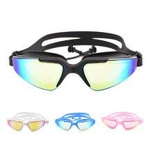 New Adult Swimming glasses earplug Waterproof Anti-Fog UV Men Women Pool arena Water Swim Eyewear Silicone goggles