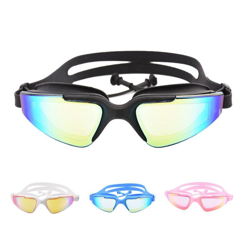 368c97fed25b Nuevas gafas de natación para adultos auriculares impermeables Anti-niebla  UV hombres mujeres ...