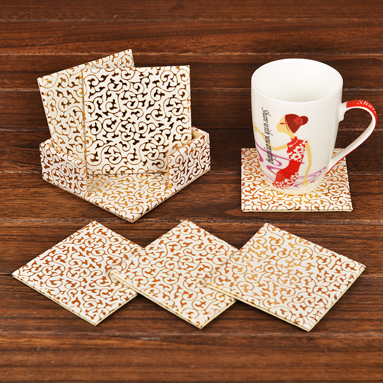 China Kitchen Naperville: 6pcs Of Pack PU Leather Tea Coaster Cup Mats Dinning