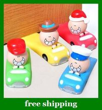 Free Shipping Baby Safety Finger Pinch Guard Door Stopper kids Car Styling doorstop gate card gifts