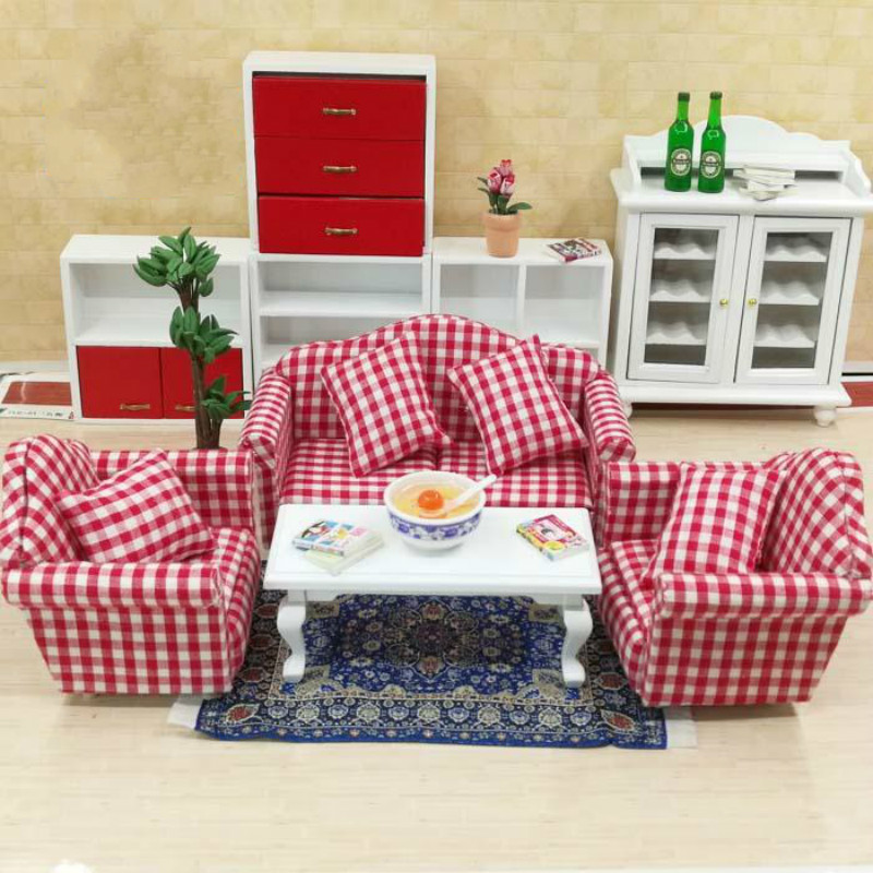 1:12 doll house miniatures mini furniture model living room scene ...