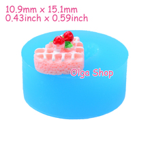 GYL176 15.1mm Heart Strawberry Cake Silicone Mold - for Dessert, Miniature Food, Fondant, Candy, Icing, Cookie Biscuit, Resin