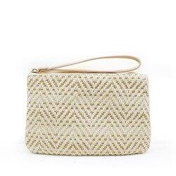 2019 HOT Fashion straw bag women's clutch bag hand-woven rattan bag bohemian beach bag